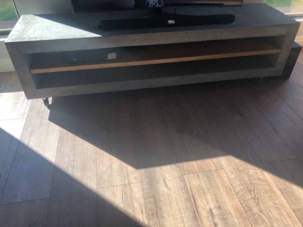 Polished Concrete TV Unit