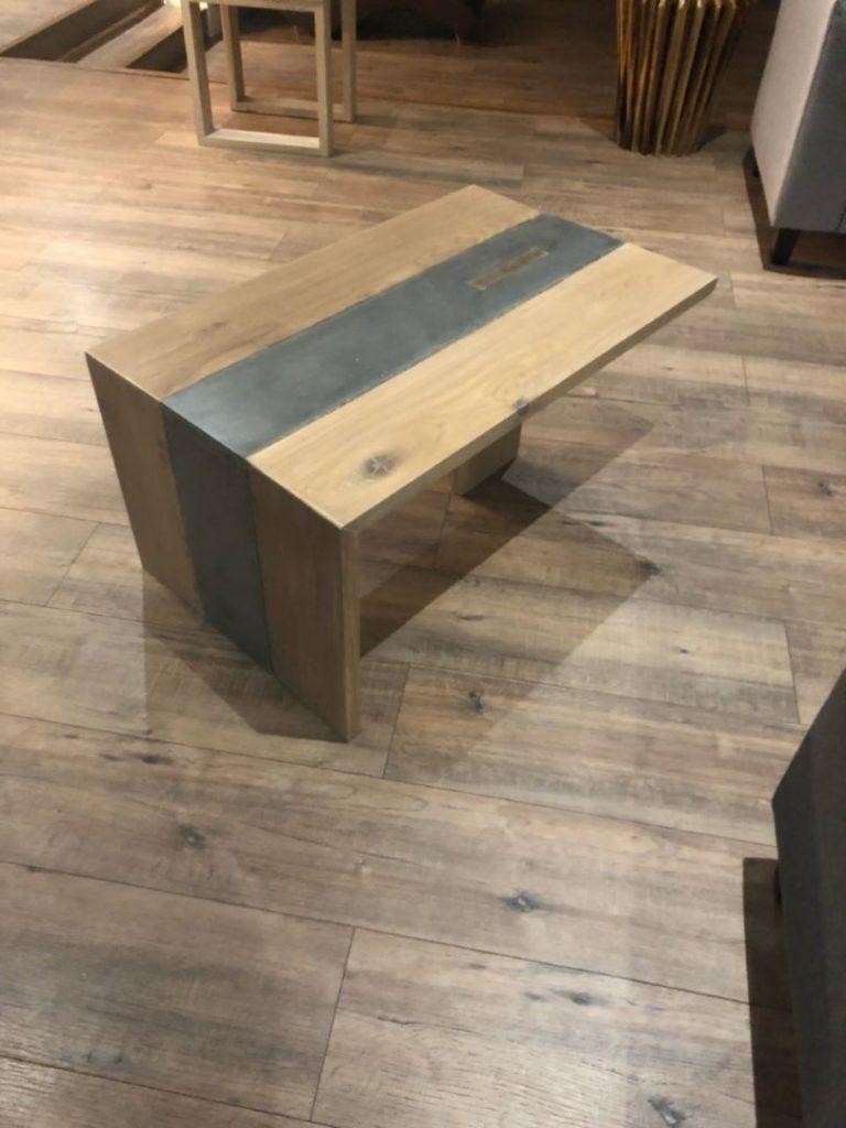 Wooden Concrete Table