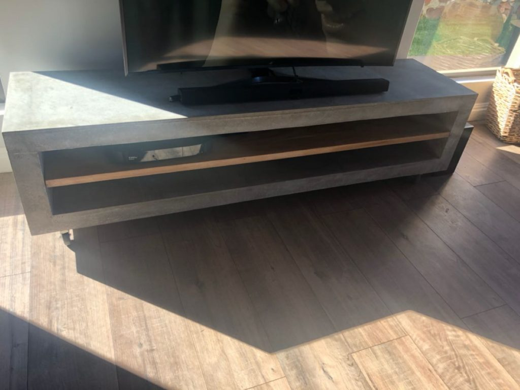 Polished Concrete TV Unit | TV Stand